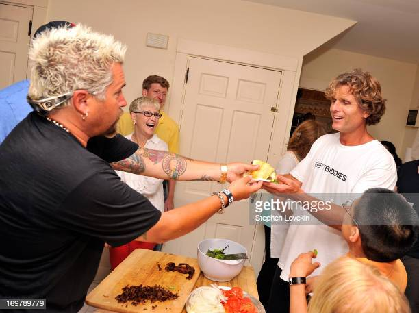 Chef Guy Fieri and Anthony Kennedy Shriver Founder and Chairman of Best Buddies International attend the Best Buddies Challenge Hyannis Port After...