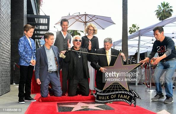 Chef Guy Fieri reacts as his Hollywood Walk of Fame Star