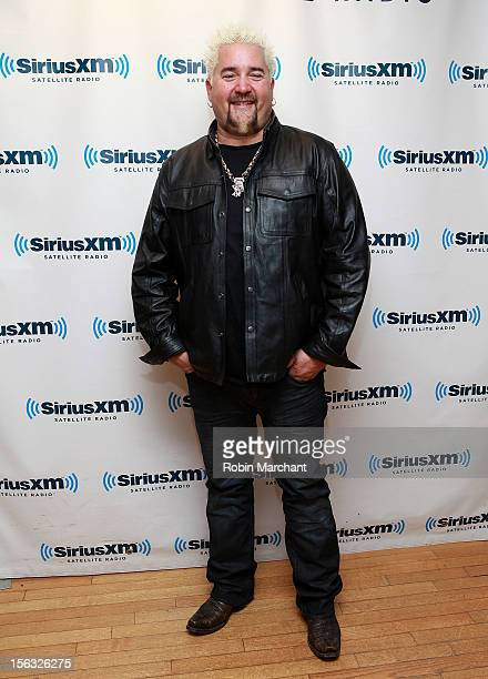 Chef Guy Fieri visits the SiriusXM Studios on November 13 2012 in New York City