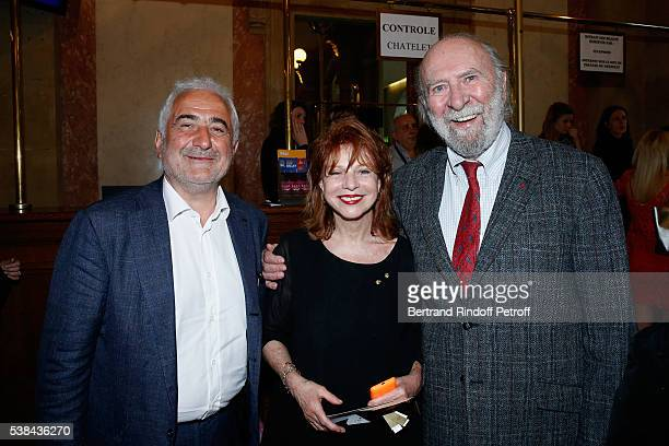 Chef Guy Savoy Agathe Natanson and JeanPierre Marielle attend the Concert of Patrick Bruel at Theatre Du Chatelet on June 6 2016 in Paris France