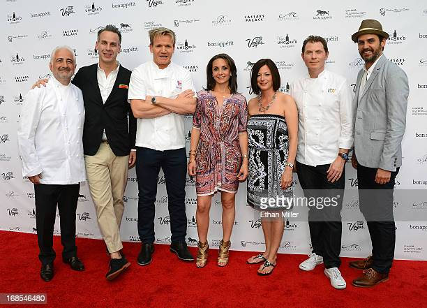 Chef Guy Savoy EditorinChief of Bon Appetit magazine Adam Rapoport television personality and chef Gordon Ramsay Vice President and Publisher of Bon...