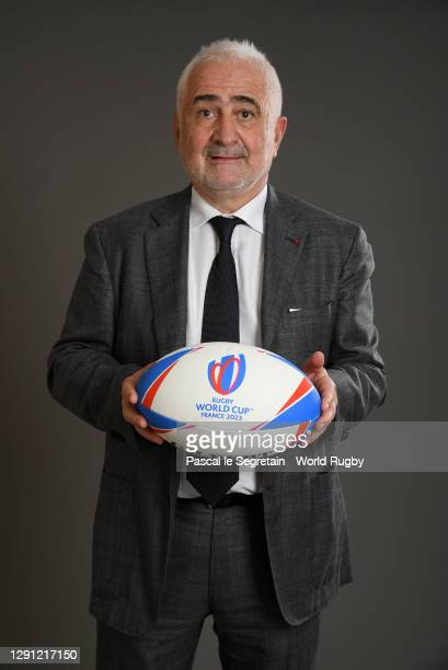 Chef, Guy Savoy poses for a photo during the Rugby World Cup France 2023 draw at Palais Brongniart on December 14, 2020 in Paris, France