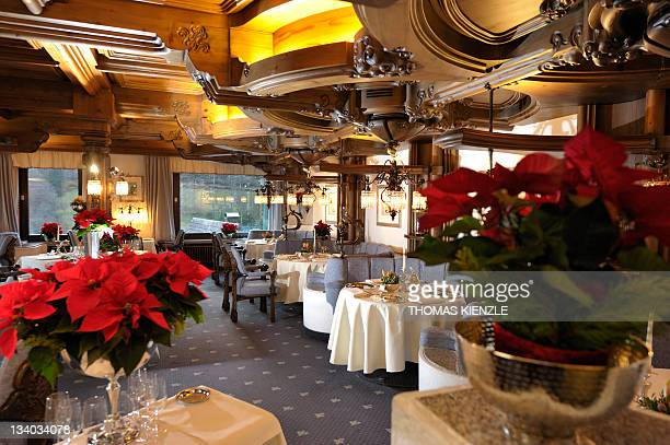 Chef Harald Wohlfahrt's restaurant Schwarzwaldstube is prepared for the guests in the hotel Traube Tonbach in Baiersbronn in the Black Forest,...