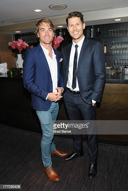 Chef Hayden Quinn and TV Personality Jason Dundas attends the 14th Annual BNP Paribas Taste Of Tennis at W New York Hotel on August 22 2013 in New...