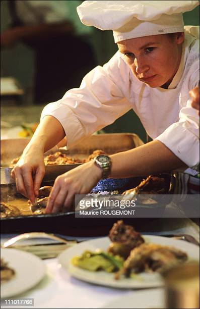 Chef Helene Darroze in Paris, France on January 01st, 2005.