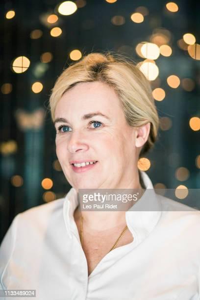 Chef Hélène Darroze poses for a portrait on January 30 2017 in Paris France