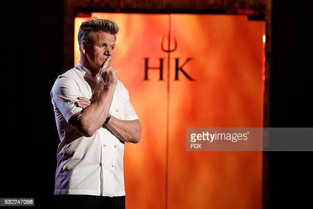 Chef / host Gordon Ramsay in the allnew 5 Chefs Compete episode of HELLS KITCHEN airing Friday April 15 on FOX