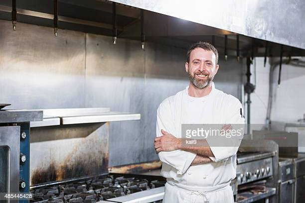 Chef in a commercial kitchen