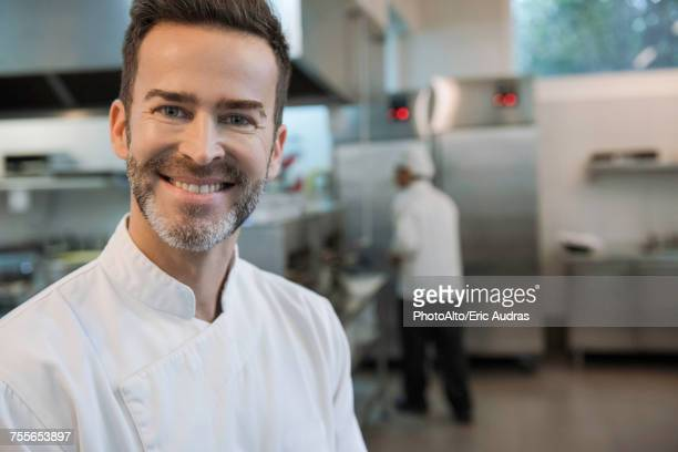chef in commercial kitchen, portrait - goatee stock pictures, royalty-free photos & images
