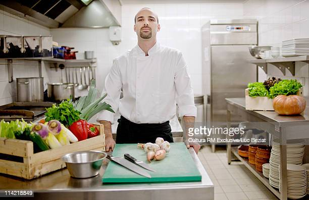 Chef in his kitchen