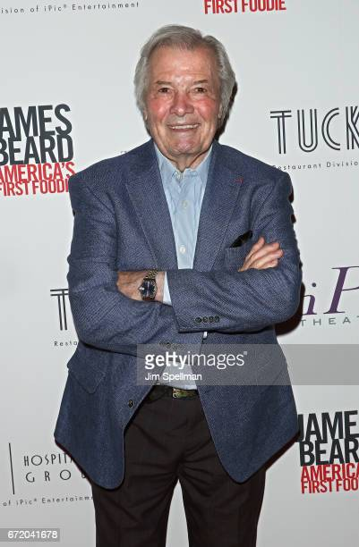 """Chef Jacques Pepin attends the """"James Beard: America's First Foodie"""" NYC premiere at iPic Fulton Market on April 23, 2017 in New York City."""