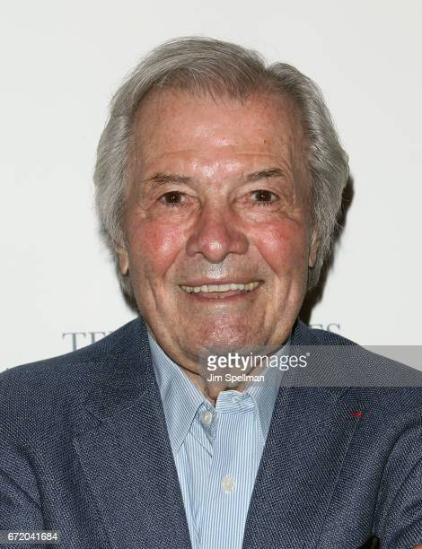 Chef Jacques Pepin attends the James Beard America's First Foodie NYC premiere at iPic Fulton Market on April 23 2017 in New York City