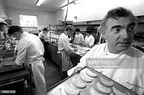 Chef Jacques Reymond at his Windsor Kitchens, 27 June 1997. SMH Picture by JOHN WOUDSTRA