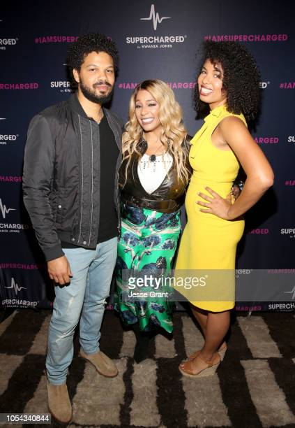 Chef Jake Smollett SUPERCHARGED Founder and CEO Kwanza Jones[and Writer Jazz SmollettWarwell attend the SUPERCHARGED Summit By Kwanza Jones At...