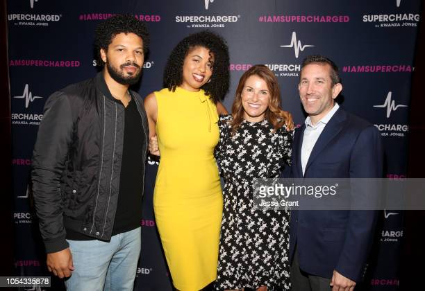 Chef Jake Smollett Writer Jazz SmollettWarwell BoxUnion President Felicia Alexander and BoxUnion CEO Todd Wadler attend the SUPERCHARGED Summit By...