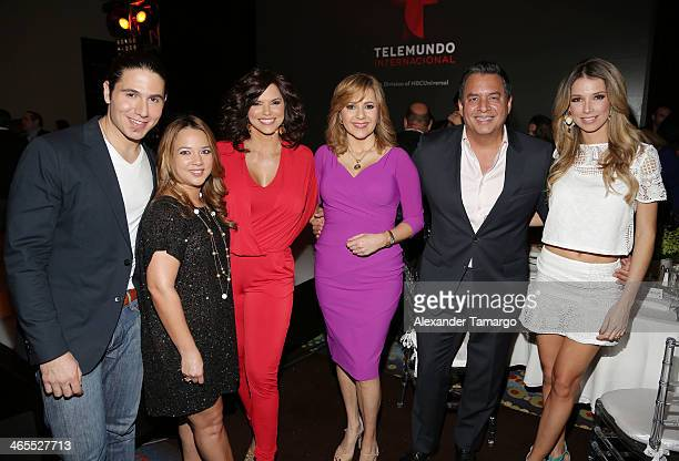 Chef James Adamari Lopez Rashel Diaz Ana Maria Canseco Daniel Sarcos and Alessandra Villegas attend Telemundo Luncheon to launch 'Camelia Le Texana'...