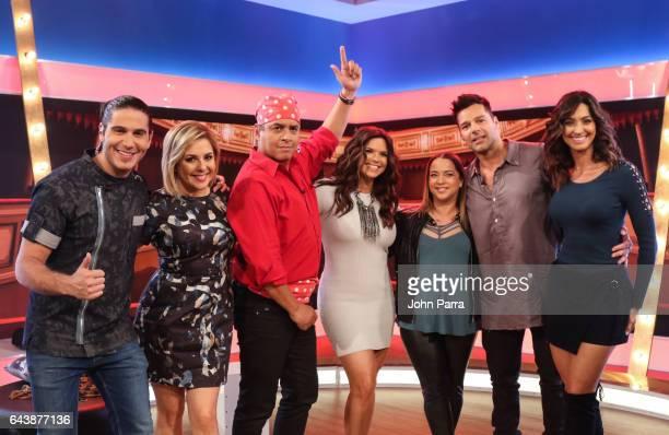 Chef James Ana Maria Canseco Daniel Sarcos Rashel Diaz Adamari Lopez Ricky Martin and Erika Csiszer attend Telemundo's Un Nuevo Dia on February 22...
