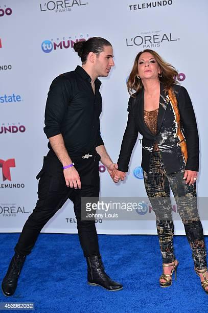 Chef James and Ana Maria Polo arrive at Telemundo's Premios Tu Mundo Awards 2014 at American Airlines Arena on August 21 2014 in Miami Florida