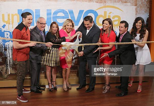 Chef James Mario Vannucci Admari Lopez Ana Maria Canseco Daniel Sarcos Rashel Diaz Diego Schoening and Erika Csiszer are seen unveiling the new set...