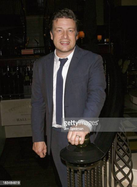 Chef Jamie Oliver attends 2nd Annual Mario Batali Foundation Honors Dinner at Del Posto Ristorante on October 6 2013 in New York City