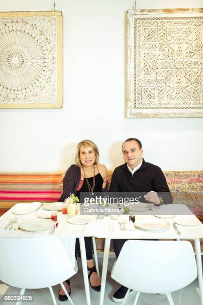 Chef Jean Georges Vongerichten and CEO and creative director of ABC Carpet Home Paulette Cole are photographed for New York Times Magazine on...
