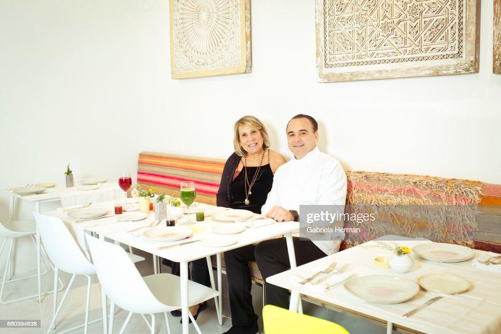 Jean Georges Vongerichten and Paulette Cole, New York Times Magazine, April 2, 2017 : News Photo
