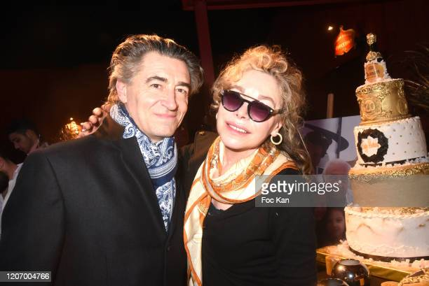 Chef Jean Pierre Jacquin and actress Grace de Capitani attend Marcel Campion's 80th Birthday Party At Cirque d'Hiver on February 17 on February 17...