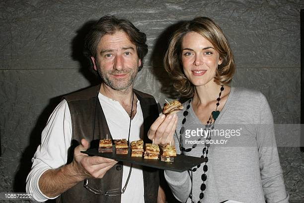 Chef JeanLuc Poujauran and Julie Andrieu in Paris France on October 23 2008