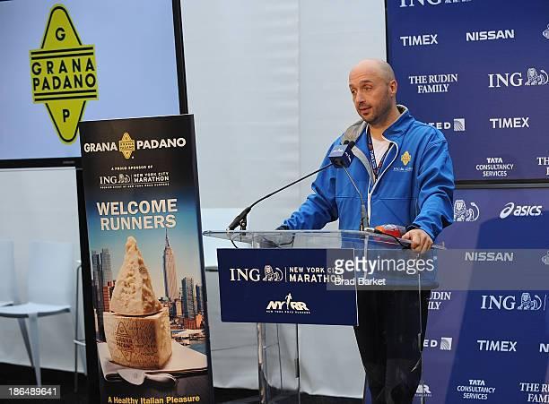 Chef Joe Bastianich attends the Grana Padano Events NYC MArathon Events on October 31 2013 in New York City