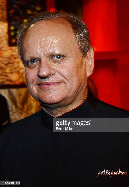 Chef Joel Robuchon appears at Vegas Uncork'd by Bon Appetit's Grand Tasting event at Caesars Palace on May 10 2013 in Las Vegas Nevada