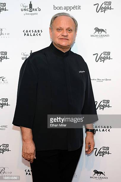 Chef Joel Robuchon arrives at Vegas Uncork'd by Bon Appetit's Grand Tasting event at Caesars Palace on May 10 2013 in Las Vegas Nevada