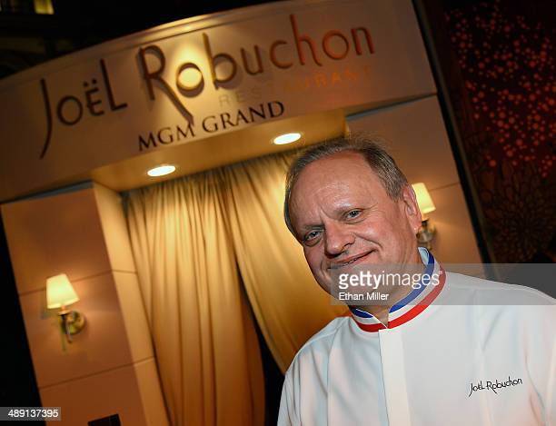 Chef Joel Robuchon attends Vegas Uncork'd by Bon Appetit's Grand Tasting event at Caesars Palace on May 9 2014 in Las Vegas Nevada