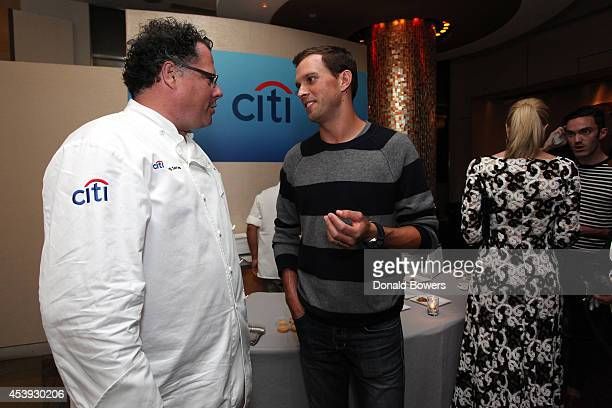 Chef John Mooney and tennis player Mike Bryan attends Taste Of Tennis Week Taste Of Tennis Gala at the W New York on August 21 2014 in New York City