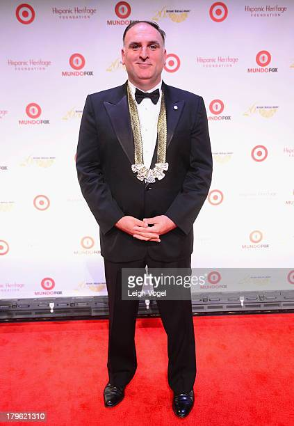 Chef Jose Andres accepts the Design Award presented by Capital One Bank at the 26th Annual Hispanic Heritage Awards presented by Target at the John F...