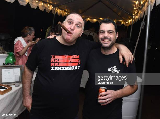 Chef Jose Andres and Chef Aaron Franklin attend PRE Brands Presents A Unique Culinary Experience at SXSW SouthBites on March 11 2017 in Austin Texas