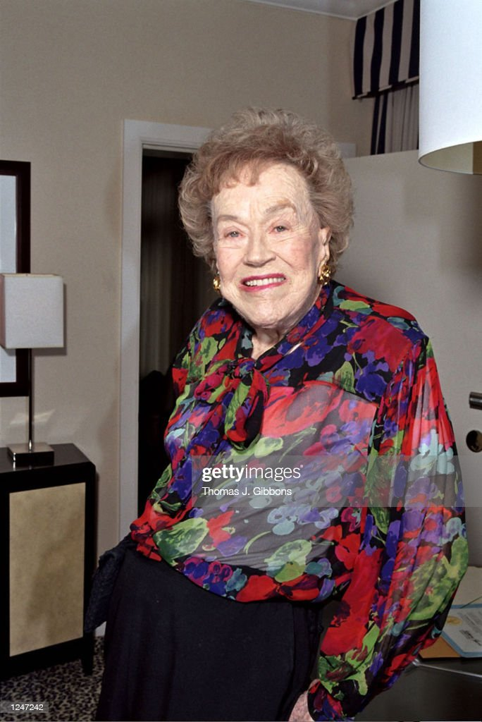 Chef Julia Child poses during a charity pre-birthday dinner at the Fifth Floor restaurant on August 1, 2002 in San Francisco, California. The dinner benefits the scholarship fund of the International Association of Culinary Professionals Foundation. Child will be celebrating her 90th birthday on August 15th.