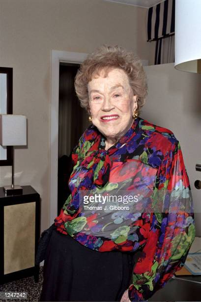Chef Julia Child poses during a charity prebirthday dinner at the Fifth Floor restaurant on August 1 2002 in San Francisco California The dinner...