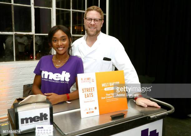 Chef Julian Plyter and a staff member attend Street Eats hosted by Ghetto Gastro at Industria on October 14 2017 in New York City