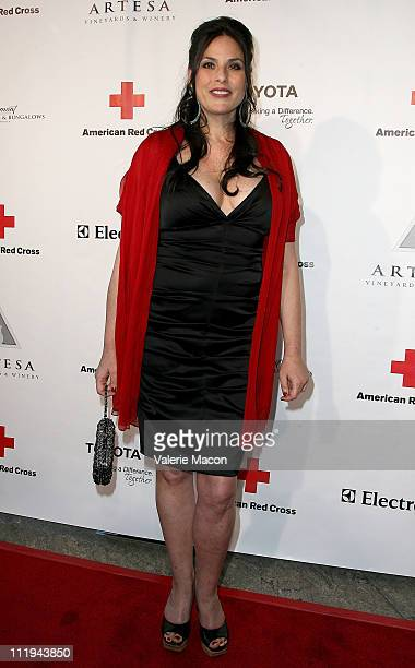 Chef Julie Anne Rhodes arrives at the American Red Cross Santa Monica Chapter's Annual Red Tie Affair on April 9 2011 in Santa Monica California