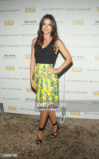 Chef Katie Lee attends The Cinema Society Rent the Runway host a screening of Samuel Goldwyn Films' 'Robot Frank' on July 27 2012 in East Hampton New...