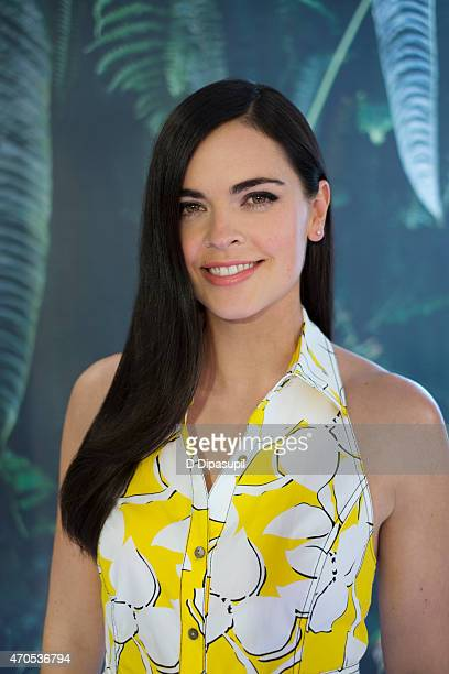 Chef Katie Lee poses for a portrait while visiting 'Extra' at their New York studios at HM Times Square on April 15 2015 in New York City