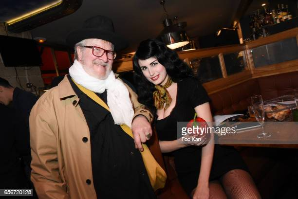 Chef Kendall Price and Photo stylist Elsa Oesinger attend 'Apero Mecs A Legumes' Party Hosted by Grand Seigneur Magazine at the Bistrot Marguerite on...