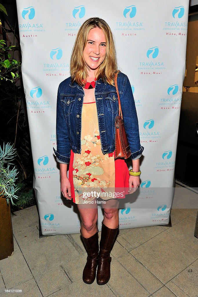 Chef Krista Simmons attends Travaasa Resorts official LA experience event at Kinara Spa on March 19, 2013 in Los Angeles, California.