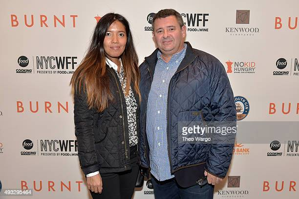 Chef Laurent Tourondel attends the Private Screening Of BURNT QA Panel And Reception With Bradley Cooper And Sienna Miller during Food Network...