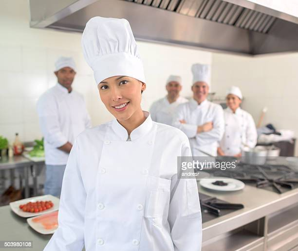 Chef leading a team in the kitchen