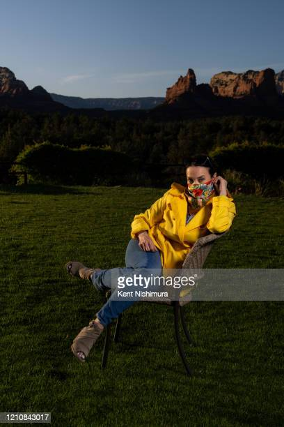 Chef Lisa Dhal poses for a portrait in the middle of the outdoor seating area of her restaurant Mariposa Latin Inspired Grill on Wednesday April 22...