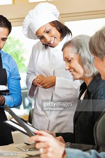 シェフをお求めのお客様には、レストランのメニュー