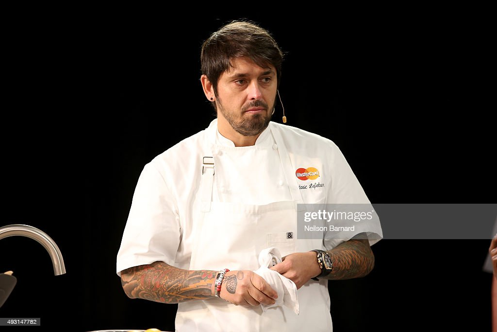 Chef Ludo Lefebvre attends the Grand Tasting presented by ShopRite featuring Samsung culinary demonstrations presented by MasterCard - Food Network & Cooking Channel New York City Wine & Food Festival presented by FOOD & WINE at Pier 94 on October 17, 2015 in New York City.