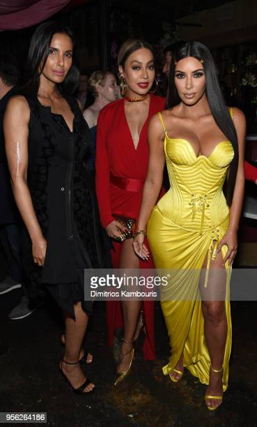 Chef MAC Spokesperson Padma Lakshmi Producer and Actress Lala Anthony and Founder and CEO KKW Kim Kardashian attend an intimate dinner hosted by The...
