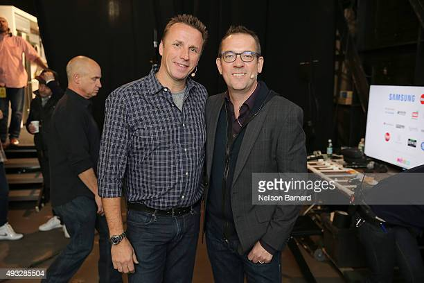 Chef Marc Murphy and Writer Ted Allen attend the Grand Tasting presented by ShopRite featuring Samsung Culinary Demonstrations presented by...